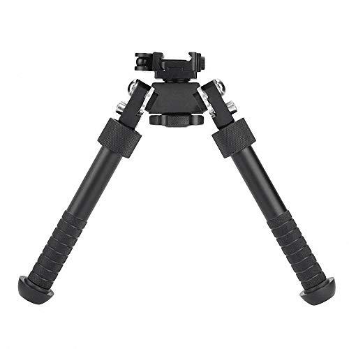 Lejie 6.5-9 Inches Tactical Bipod Picatinny Rail Bipod Folding Swivel Adjustable QD Mount (Black)