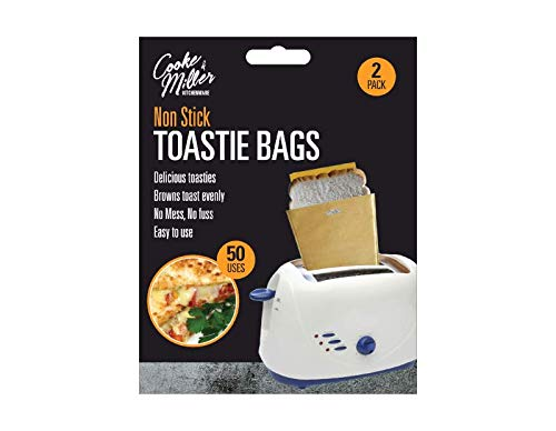 St@llion Bolsas de tostadas reutilizables para sándwich y tostadas con bolsillos antiadherentes para accesorios de cocina (8 piezas)