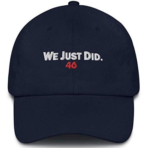 Que Acabamos De Hacer 46 Sombrero De Béisbol, Joe Biden 46 Presidente Sombrero Bordado Sombrero del Algodón del Presidente Hace Ajustable Unisex Gorra De Béisbol Adapta a Mujeres De Los Hombres
