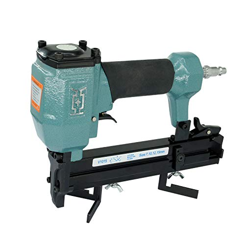 Dongya V1015 30 Gauge Pneumatic Picture Framing Nailer, 3/8-inch (10.3mm) Crown, 5/16'' to 5/8'' (7-15mm) Leg Length, Frame Joiner or Nail Gun with Carrying Case