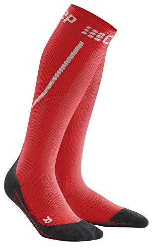 CEP Calcetines de running para mujer de invierno | Calcetines cálidos para correr con compresión, Mujer, WP40U, rojo, negro, IV