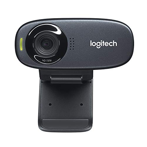 Logitech C310 Webcam HD, HD 720p 30fps, Videochiamate HD Widescreen, Correzione Luce HD, Microfono Riduzione del Rumore, Per Skype, FaceTime, Hangouts, WebEx, PC Mac Laptop Macbook Tablet, Nero