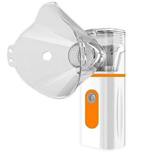 HLPIGF MáQuina de Nebulizador de Atomizador de Malla de Mano para Uso Diario en el Hogar Nebulizador Inhaladores Personales de Vapor Naranja