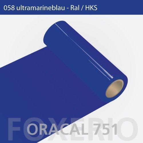 Klebefolie - Oracal 751-058 ultramarinblau - 63 cm Rolle Größe 5 Meter