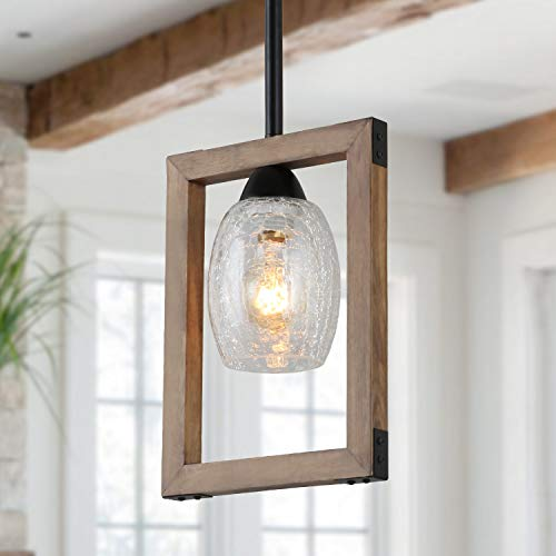 Giluta Square Pendant Light Wood Chandelier Kitchen Island...