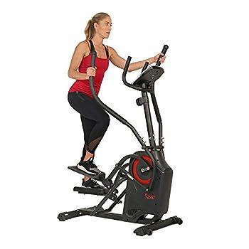 Sunny Health & Fitness Premium Cardio Climber Stepping Elliptical Machine - SF-E3919 Black