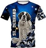 HSBZLH Camiseta Termica Niño Azul Funny Dog Camisetas Impresas En 3D Mujeres para Hombres Tops-M