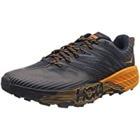 Hoka One One Speedgoat 4 Textile Synthetic Men's Trainers Shoes (Black Iris Bright Marigold)