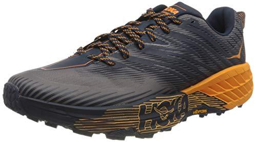 Hoka Speedgoat 4, Zapatillas de Trail-Running por Hombre, Azul (BlackIris/BrightMarigold BIBM), 46 2/3 EU