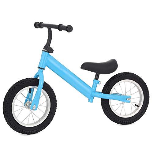 QHY Infantil Brillante Niños Bicicleta De Equilibrio Sin Pedal Ultraligero Ciclismo Práctica Conduciendo Bicicleta Niños Bicicleta 2~5 Años Viejo Bicicleta para Niños (Color : Blue)