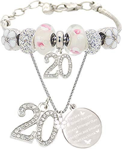 20th Birthday Gifts for Women, 20th Birthday, 20 Year Old Birthday, 20th Birthday Bracelet, 20th Birthday Necklace, 20 Year Old Daughter Birthday Gift Idea, Bracelet and Necklace for 20 year old girl