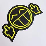 folien-zentrum Fuck You Smiley Neon Gelb Schwarz Aufkleber Shocker Hand Auto JDM Tuning OEM Dub...