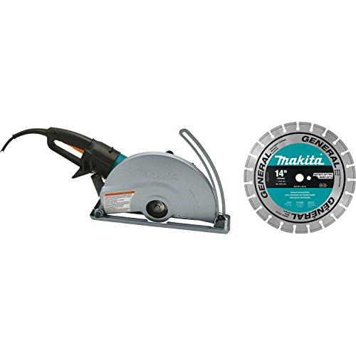 Makita 4114X 14  SJS Electric Angle Cutter, with 14  Diamond Blade