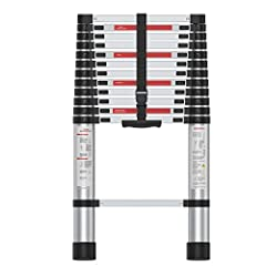 Portable Extension Ladder: This telescoping ladder gives you up to 12.5 feet of reach but folds small enough to fit in anywhere, like the trunk of your car. Only weighs 22lbs with integrated handle for easy transportation around a job site. Stable an...