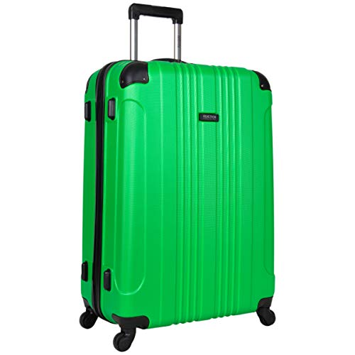 Kenneth Cole Reaction Out Of Bounds 28-inch Check-Size Lightweight Durable Hardshell 4-Wheel Spinner Upright Luggage, Kelly Green