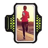 Haissky Fascia Da Braccio Sportiva sweatproof corsa fascia da braccio per iPhone 8/7/6/5/5C/5S Galaxy S6/S5 ,Huawei, ASUS, LG, Motorola fino a 5.2 Pollici con ID Porta carte di credito denaro