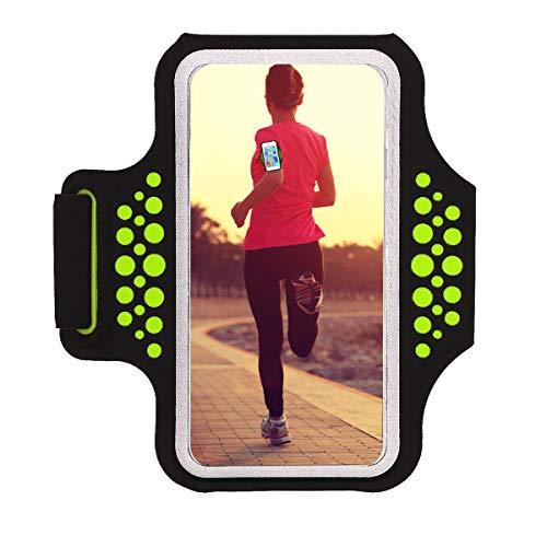 Haissky Fascia Da Braccio Sportiva sweatproof corsa fascia da braccio per iPhone 8 7 6 5 5C 5S Galaxy S6 S5,Huawei, ASUS, LG, Motorola fino a 5.2 Pollici con ID Porta carte di credito denaro