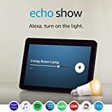 Echo Show (2nd Gen) with Philips Hue Bulb - Alexa smart home starter kit - Charcoal
