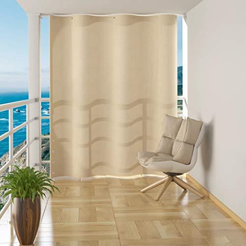 UnfadeMemory Toldo Cortina para Balcón de Casa,Protección de la Intimidad,Resistente al Agua,PEAD 140x230cm (Crema)