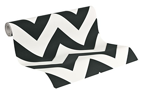 Metropolis by Michalsky Living 939431 93943-1 - Carta da parati in tessuto non tessuto, grafica moderna, 10,05 m x 0,53 m, nero/bianco