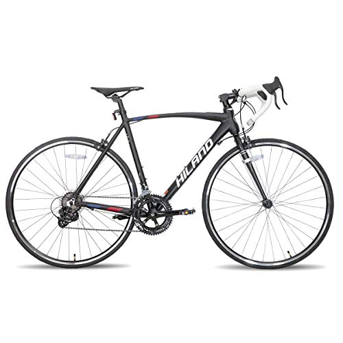Hiland Road Bike 700c Racing Bike City Commuter Bicycle with 14 Speeds Drivetrain 60cm Black