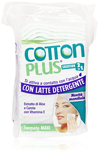 Coton Plus faldine Maquillage avec lait nettoyant 2 en 1 Maxi Pack de 50)