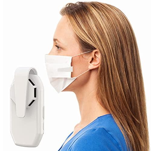Mirabellinifred Compartimentos para máscaras, ventilador de máscara recargable por USB, para ciclismo, correr, deportes al aire libre y viajes