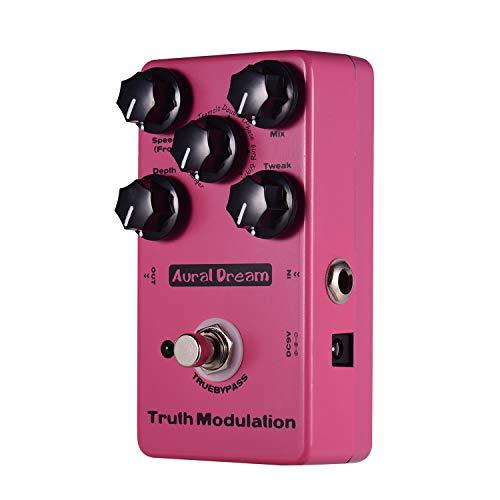 Muslady Modulazione Pedale effetto chitarra 8 modalità audio Aural Dream True Flanger/Chorus/Vibrato/Tremolo/Doubling/Phase/Ring/Pitchshift Calotta in lega di alluminio con True Bypass