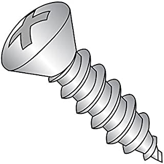 #10-12 Thread Size 2 Length Pack of 25 2 Length Type A Small Parts 1032APO188 Pack of 25 Phillips Drive 18-8 Stainless Steel Sheet Metal Screw 82 degrees Oval Head Plain Finish