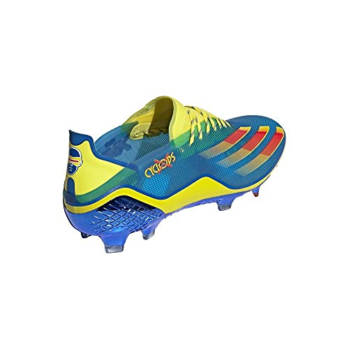 adidas X Ghosted.1 FG, Bota de fútbol, Blue-Vivid Red-Bright Yellow, Talla 11 UK (46 EU)