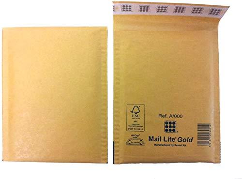 G//7 gold 50 Mail Lite Luftpolstertaschen Gr 230 x 330 mm