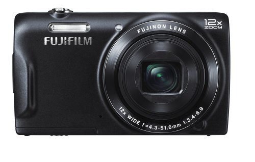 Fujifilm FinePix T500 Digitalkamera (16,2 Megapixel, 12-fach opt. Zoom, 6,9 cm (2,7 Zoll) LCD CCD Sensor, bildstabilisiert, USB 2.0) schwarz