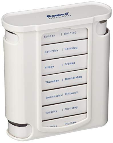 Romed Wochendispenser 7 Tage Tablettenbox weiß