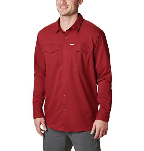 Columbia Men's Silver Ridge Lite Long Sleeve Shirt, Red Jasper, Large
