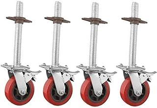 Zwenkwielen 6-inch, zwaar uitgevoerde steigerwielen, industriële roterende rem Slijtvaste steigertoren Verstelbare zwenkwi...