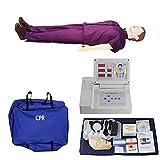 GXGX Simulador de resucitación cardiopulmonar simulador Completo CPR CPR Manikin Kit MANICIDAD DE Primeros Auxilios DUMMENTO, con MONITORES DE REAJE para LA CAPACITACIÓN