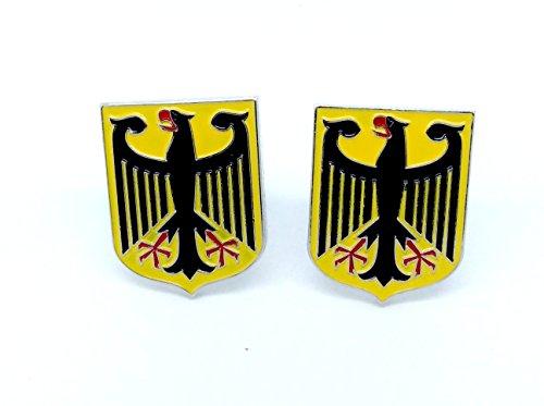 Manteau Royal des Bras Allemand Aigle impérial Drapeau Allemand Cosplay Cufflinks Boutons de Manchette + Boîte à Cadeau