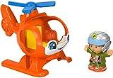 Fisher-Price Little People Helicóptero, juguete y figura para niños de 1 a 5 años