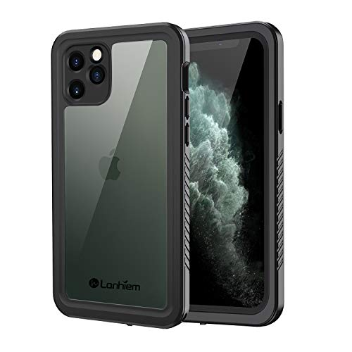 Lanhiem iPhone 11 Pro Waterproof Case, 360 Full Body Protection Underwater Dirtproof Shockproof Clear Cover with Built-in Screen Protector for iPhone 11 Pro 5.8 Inch (Black)