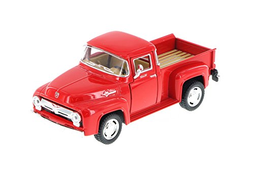 KiNSMART 1956 Ford F-100 Pickup Truck, Red 5385D - 1/38 Scale Diecast Model Toy Car