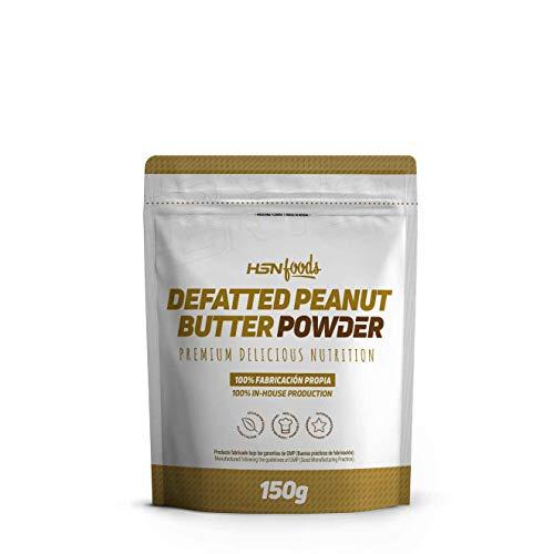 HSN Foods Mantequilla de Cacahuete en Polvo 100% Natural Peanut Butter   Alta en Proteína, Desgrasado   Vegano, Sin Gluten, Sin Lactosa, Sin Grasa de Palma, Sin azúcar ni Sal añadidos - 150g