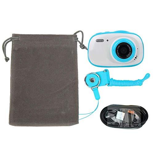 Deror Cámara Digital para niños 2 Pulgadas IPS HD Pantalla de visualización 8MP Impermeable 6X Zoom (Azul)