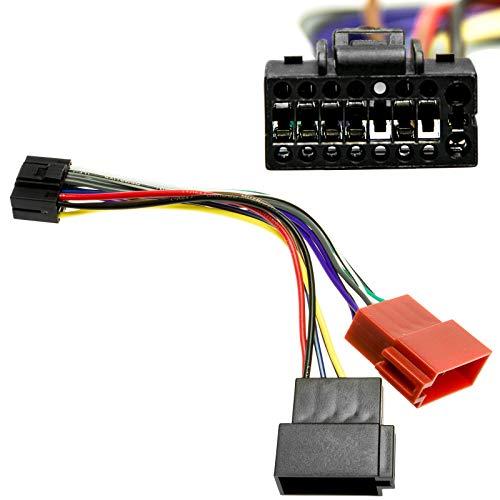 Auto Radio Adapter 16cm Kabel 16 Pol Stecker auf 16 Pol DIN ISO Norm Buchse für Kenwood KDC