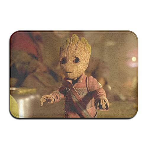HAOHAODE Guardians of Galaxy Cute Groot Carpets - Felpudo antideslizante para puerta de casa, 40 x 60 cm