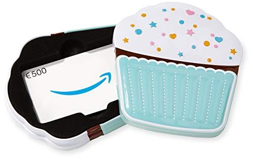 Amazon.de Geschenkkarte in Geschenkbox - 500 EUR (Cupcake)