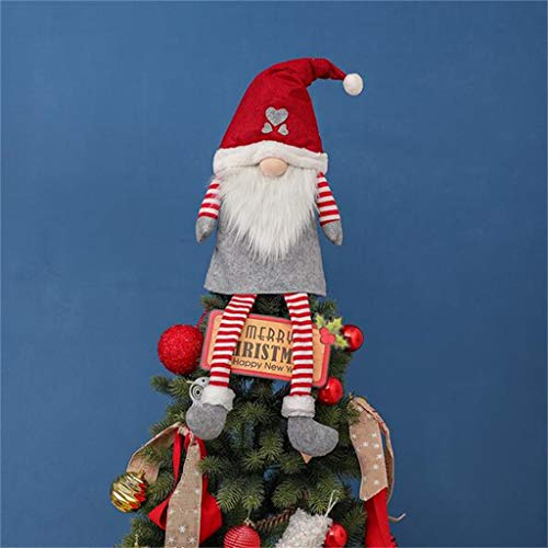 Christmas Ornaments Santa Gnome Plush Doll,Long Hat Forest Man Figurine Xmas Santa Claus Faceless Doll Gifts for Hanging Home Decorations Holiday Decor
