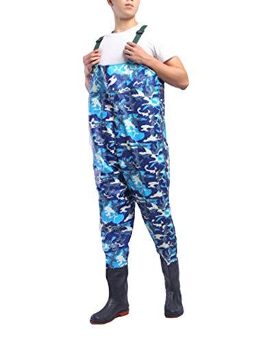 Pantalones Vadeadores De Pesca Honda Mono Botas Waders para Pesca De Lanzar Transpirables Unisexo