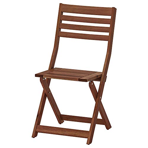 Ikea APPLARO Chair, Outdoor, Foldable Brown Stained