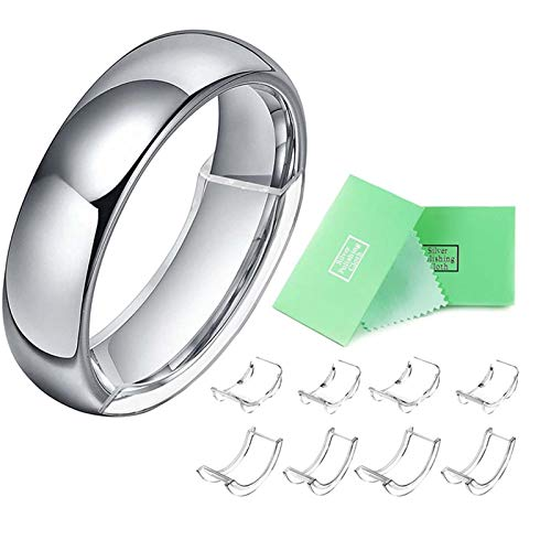 JIekyoi Invisible Ring Size Adjuster for Loose Rings – Ring Guard, Ring Sizer, 8 Sizes Fit 1-10 mm Width Rings,Fast Delivery A++