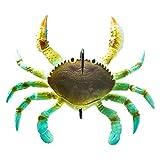 KIWEE 1 / 3 unidades Smash Crab cebo de pesca simulación de cangrejo, pez negro favorito de los huesos rojos, señuelo Tarpon para agua salada.
